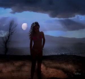 A lua e eu...