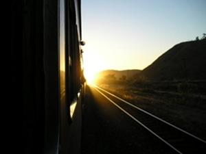 O trem na estação...e o meu destino