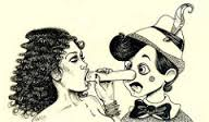 Está escrito em seu nariz
